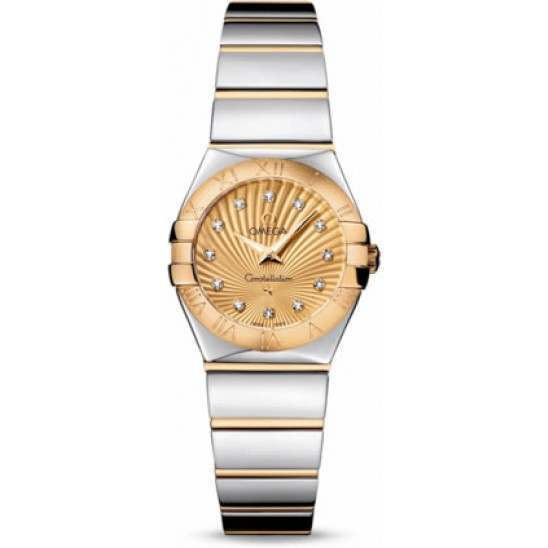 Omega Constellation Polished Quartz Diamonds 123.20.24.60.58.002