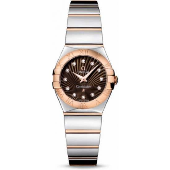 Omega Constellation Polished Quartz Diamonds 123.20.24.60.63.002
