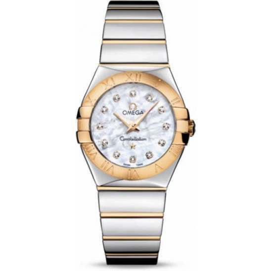 Omega Constellation Polished Quartz Diamonds 123.20.27.60.55.004
