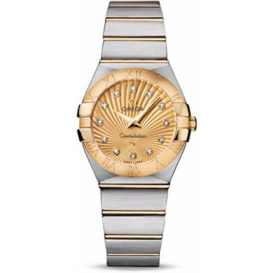 Omega Constellation Brushed Quartz Diamonds 123.20.27.60.58.001