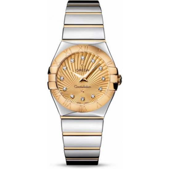 Omega Constellation Polished Quartz Diamonds 123.20.27.60.58.002
