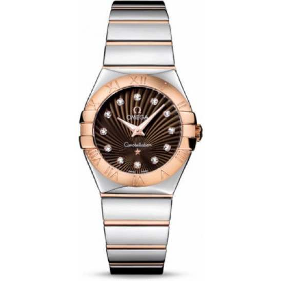 Omega Constellation Polished Quartz Diamonds 123.20.27.60.63.002