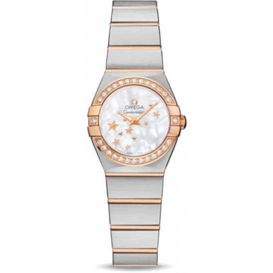Omega Constellation Brushed Quartz Diamonds 123.25.24.60.05.002
