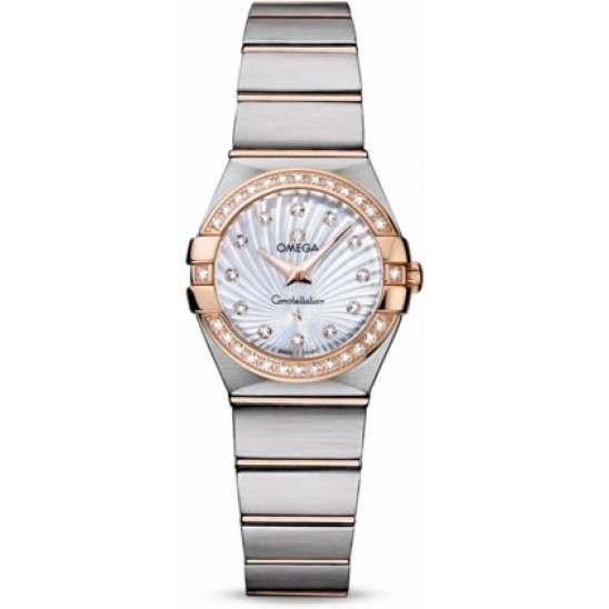 Omega Constellation Brushed Quartz Diamonds 123.25.24.60.55.002
