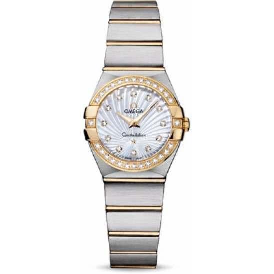 Omega Constellation Brushed Quartz Diamonds 123.25.24.60.55.004