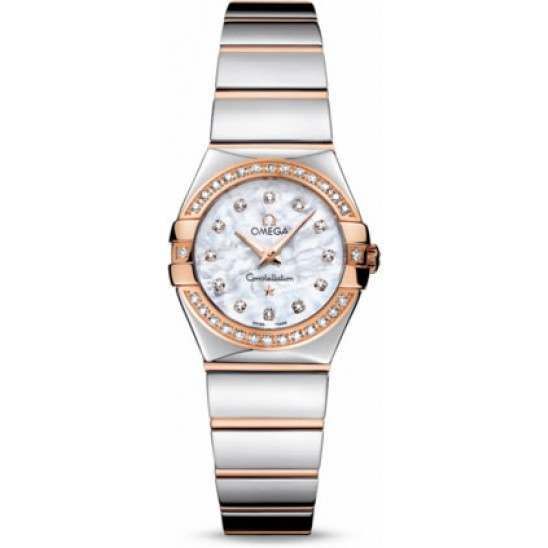 Omega Constellation Polished Quartz Diamonds 123.25.24.60.55.005