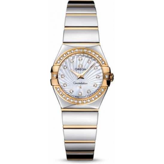 Omega Constellation Polished Quartz Diamonds 123.25.24.60.55.008
