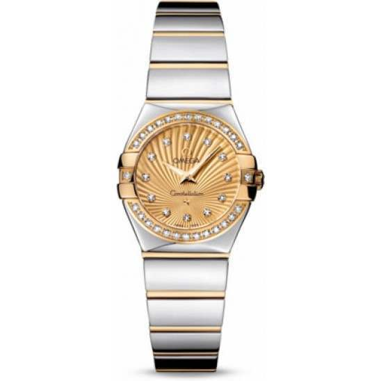 Omega Constellation Polished Quartz Diamonds 123.25.24.60.58.002
