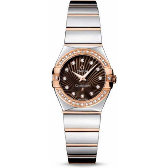 Omega Constellation Polished Quartz Diamonds 123.25.24.60.63.002