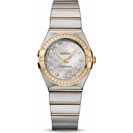 Omega Constellation Brushed Quartz Diamonds 123.25.27.60.52.002