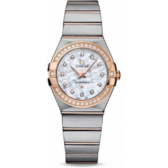 Omega Constellation Brushed Quartz Diamonds 123.25.27.60.55.001