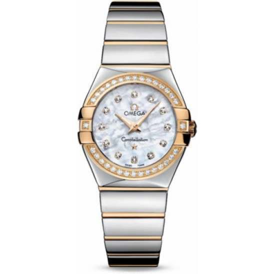 Omega Constellation Polished Quartz Diamonds 123.25.27.60.55.007