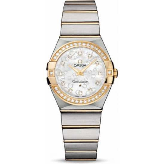 Omega Constellation Brushed Quartz Diamonds 123.25.27.60.55.010