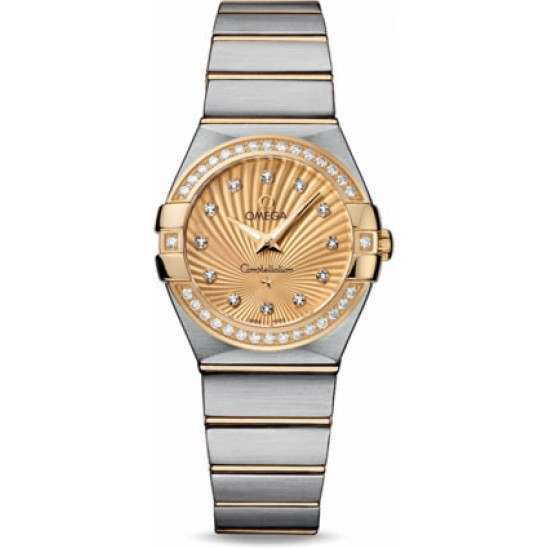 Omega Constellation Brushed Quartz Diamonds 123.25.27.60.58.001