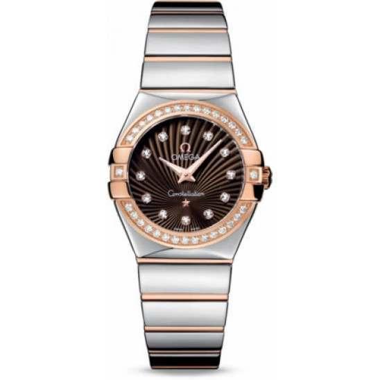 Omega Constellation Polished Quartz Diamonds 123.25.27.60.63.002