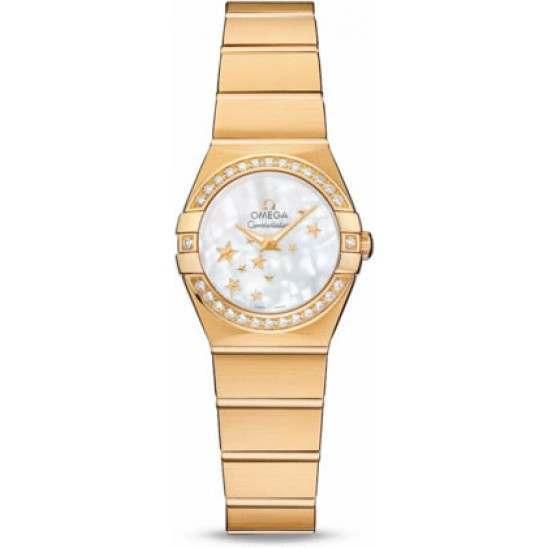 Omega Constellation Brushed Quartz Diamonds 123.55.24.60.05.001