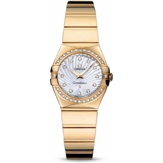 Omega Constellation Polished Quartz Diamonds 123.55.24.60.55.007