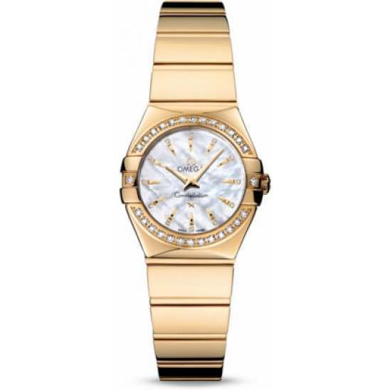 Omega Constellation Polished Quartz Diamonds 123.55.24.60.55.008