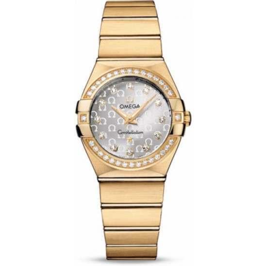 Omega Constellation Brushed Quartz Diamonds 123.55.27.60.52.002