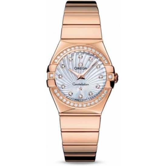 Omega Constellation Polished Quartz Diamonds 123.55.27.60.55.005