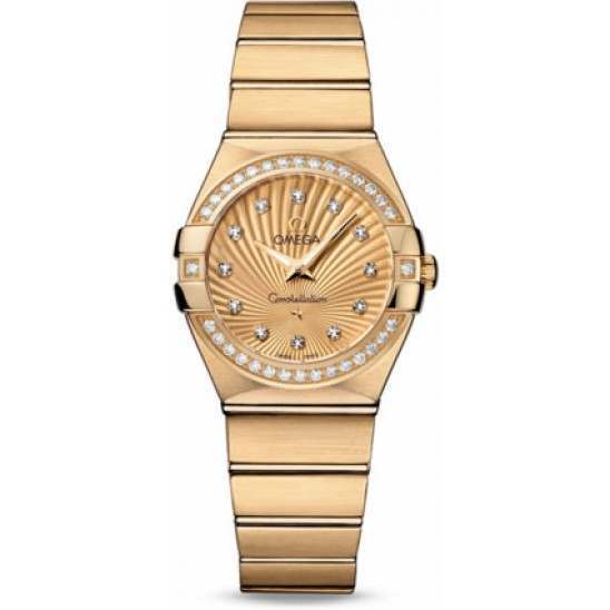 Omega Constellation Brushed Quartz Diamonds 123.55.27.60.58.001