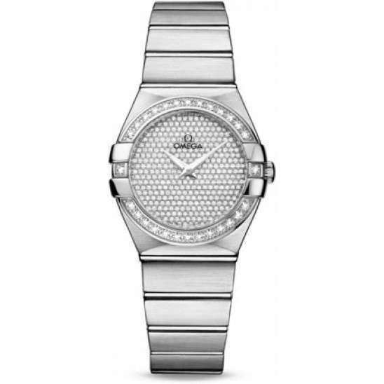 Omega Constellation Brushed Quartz Diamonds 123.55.27.60.99.001