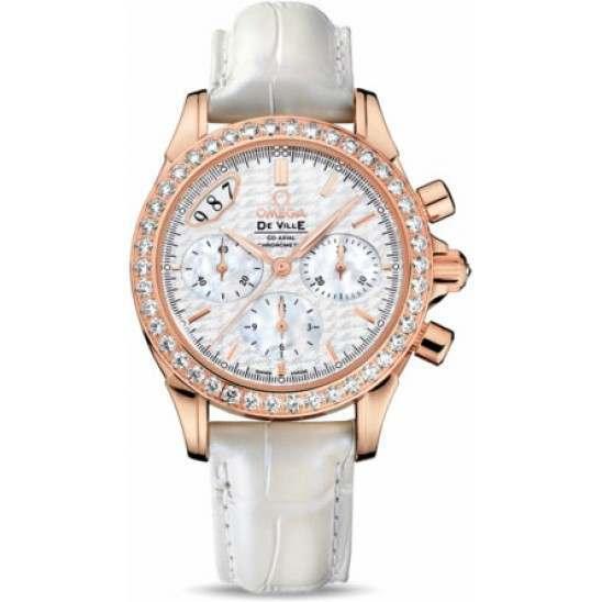 Omega De Ville Co-Axial Chronograph Diamonds 422.58.35.50.05.001