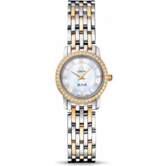 Omega De Ville Prestige Quartz Small Diamonds 4375.71.00