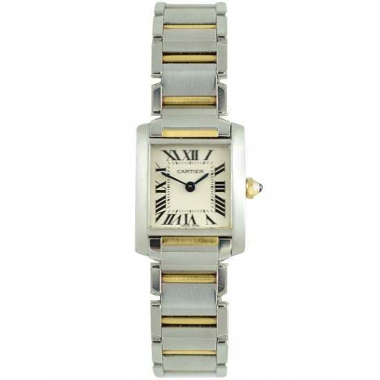 Cartier Tank Francaise Steel and Gold W51007Q4