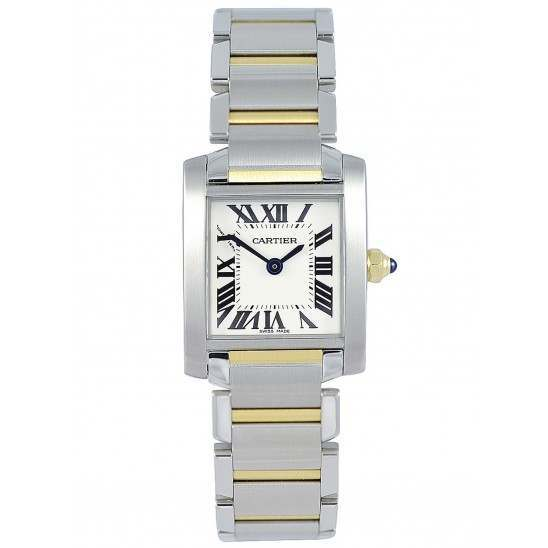 Cartier Tank Francaise Small Steel and Gold - W51007Q4