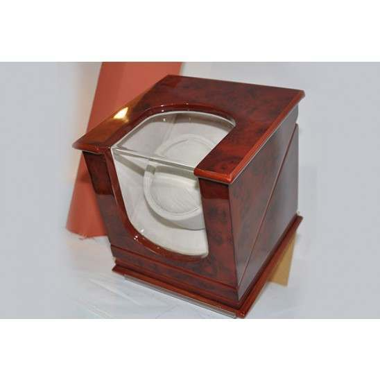 Automatic walnut finish one watch winder