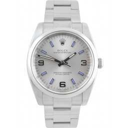 Rolex Oyster Perpetual Silver Arab Oyster 114200