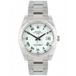 Rolex Perpetual Oyster Date White Roman dial 115210