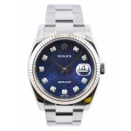 Rolex Date-Just - 116234 Immaculate condition - Blue Diamond Jubilee Dial
