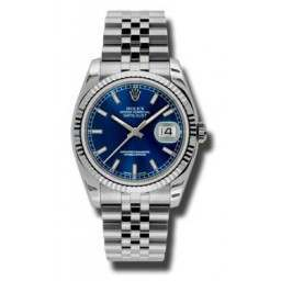 Rolex DateJust - 116234 Blue Baton Dial