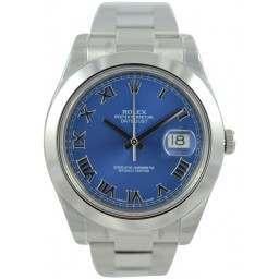 Rolex Datejust II Azzuro Blue Roman Oyster 116300