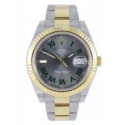 As New Rolex Datejust II Grey Green 116333
