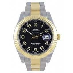 Rolex Datejust II Black Arab Oyster 116333