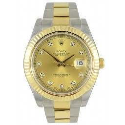 Rolex Datejust II Champagne/diamond Oyster 116333