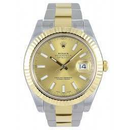 Rolex Datejust II Champagne/index Oyster 116333