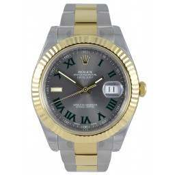 Rolex Datejust II Slate Roman/Hour Marker At 9 Oyster 116333