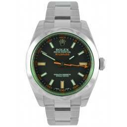 Rolex Milgauss Black Dial Green Glass Oyster 116400GV