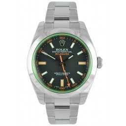 Rolex Milgauss Black Dial Green Glass 40mm 116400GV