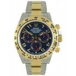 Rolex Cosmograph Daytona Steel & Gold Blue Arab 116503