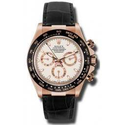 Rolex Cosmograph Daytona Everose Ivory Dial Leather 116515LN