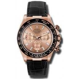 Rolex Cosmograph Daytona Everose Pink/ Diamond Dial Leather 116515LN