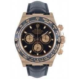 Rolex Cosmograph Daytona Everose Black Dial Leather 116515LN