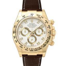 Rolex Cosmograph Daytona White/8 Diamond Leather 116518