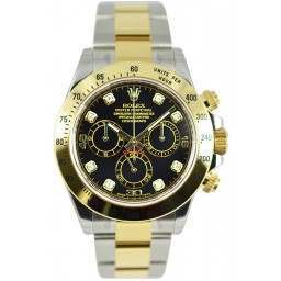 Rolex Cosmograph Daytona Black/8 Diamond 116523