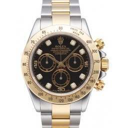 Rolex Daytona - 116523 Black Dianond Dot No Stickers
